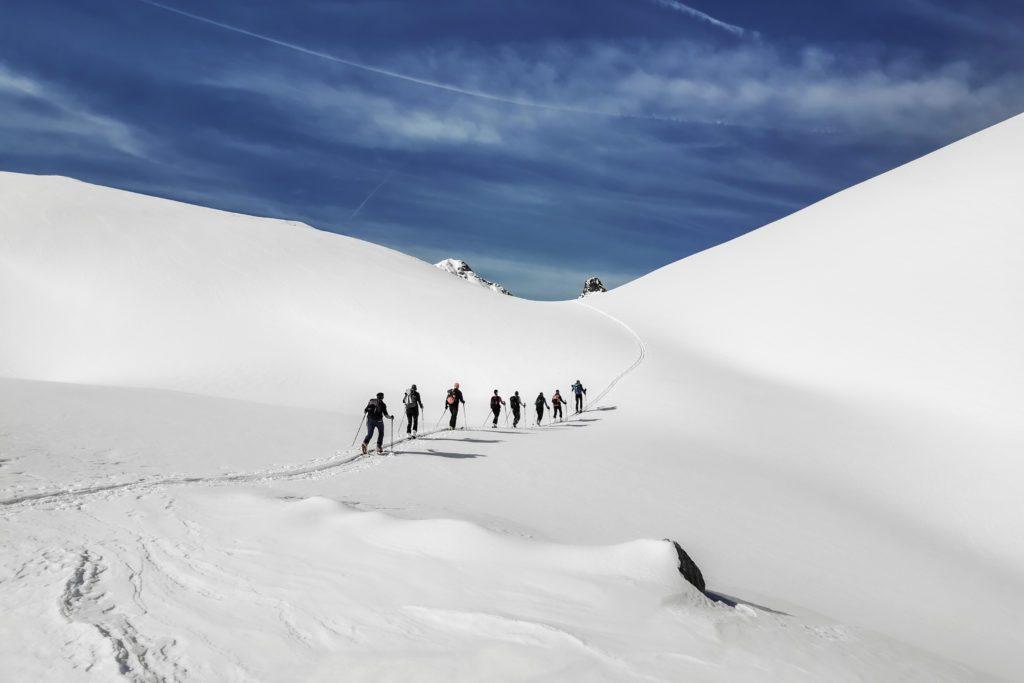 Skitouren, Winterurlaub im Lechtal. Hotel Bären