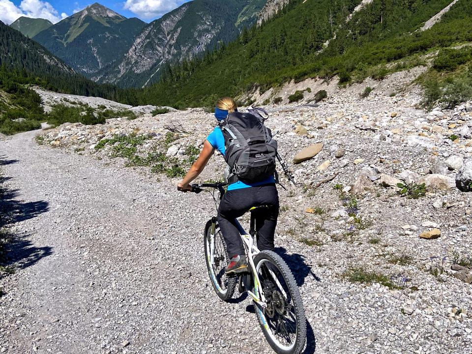 Sommerurlaub im Lechtal. Radfahren